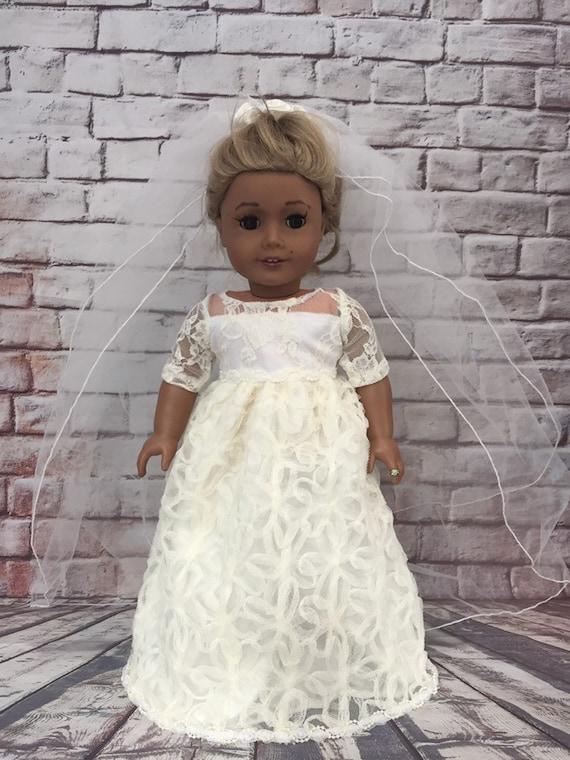 Rosebud Veil Bridal Communion 18 in Doll Clothes Fits American Girl