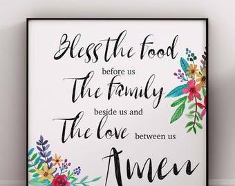 Dinner prayer | Etsy