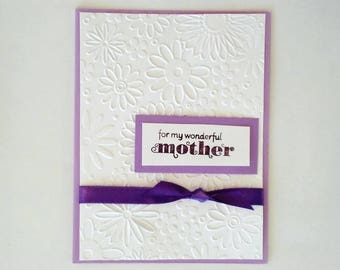 Mothers Day Card, mothers day daughter, Mother's day gift, card for mother in law, hand stamped card, Greeting Card, stampin up card