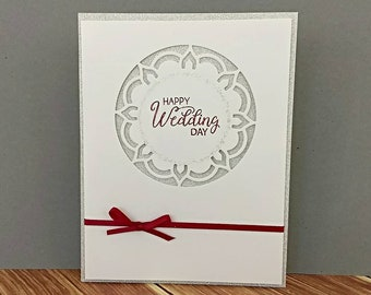 wedding card wedding gift congratulations card bridal shower card wedding congratulations stampin up card greeting card homemade card