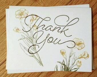 Thank you card, thank you gift, thank you card set, greeting card set, set of cards, appreciation card, Stampin up card, homemade card