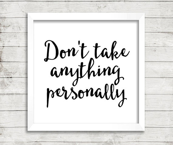 10x10 The Four Agreements Dont Take Anything Personally Etsy