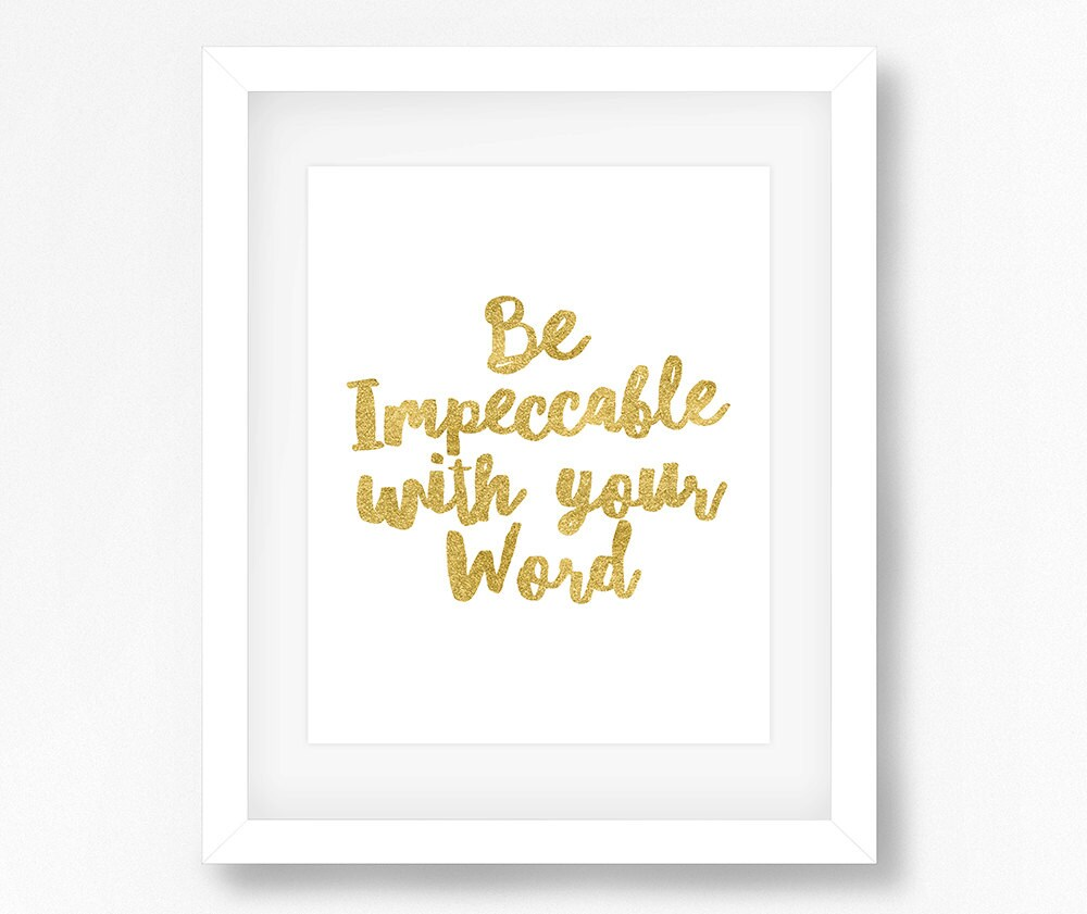 The Four Agreements Be Impeccable With Your Word 4 Etsy