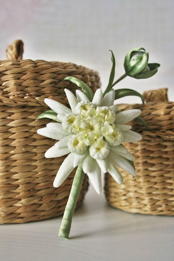 Velvet flowers edelweiss jewelry edelweiss flower jewelry etsy image 0 mightylinksfo