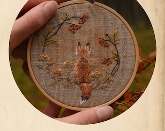 """PDF pattern for embroidery """"Autumn Fox"""""""