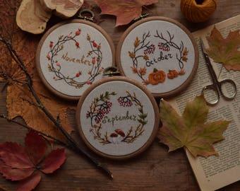 Autumn wreathes (patterns+instructions)
