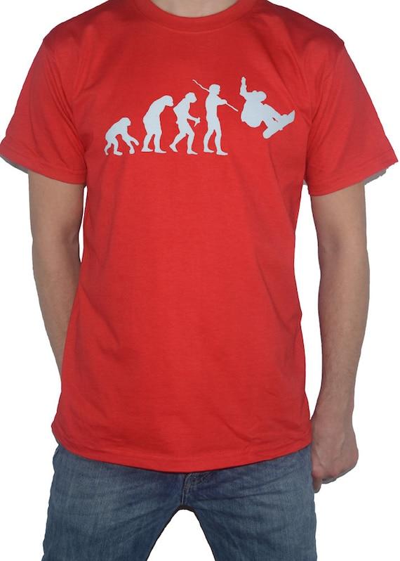Snowboard Evolution T-Shirt evolution humaine du point de vue du snowboarder