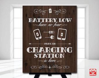 Charging Station Sign, Charging Dock, Wedding Printable, Rustic Wood, I do BBQ, Outdoor event, Bridal Shower, Wood,8x10 Instant Download JPG