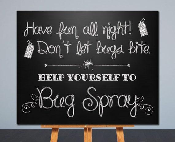 Wedding bug spray sign printable wedding sign chalkboard junglespirit Choice Image