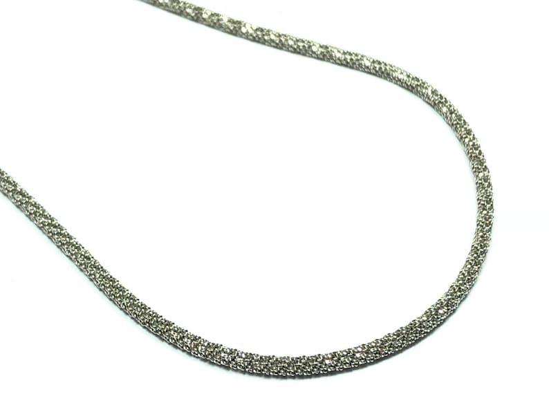 FREE S/&H 925 Sterling Silver Gold Vermeil Herringbone Necklace 17.75\u201d Length