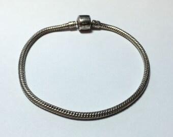 "925 Sterling Silver Popular Style Snake Chain Bracelet - Signed ""BIAGI"""