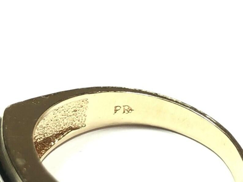 Men\u2019s 10K Yellow Gold Diamond Ring .05TCW Size 12