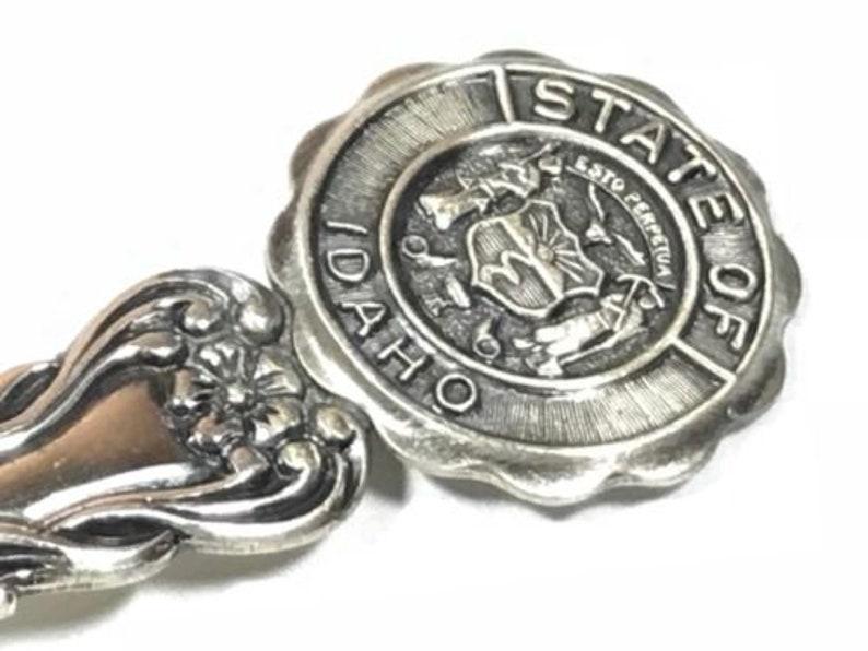 Beautfiul Sterling Silver \u2018State Of Idaho\u2019 Souvenir Spoon Signed BEAU