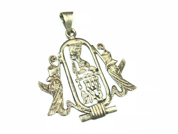 Vintage .925 Sterling Silver Egyption Symbols Hier