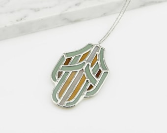 Stained Glass Pendant No. 3