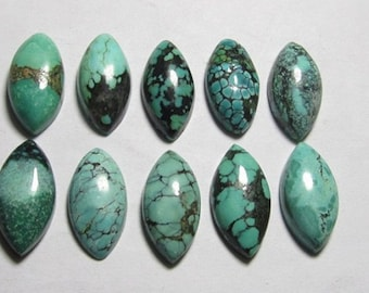 25 pic.100/% Natural Tibetan Turquoise 5X5 mm round shape cabochon with free shipping