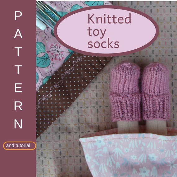 Knitted Toy Socks Tutorial Doll Clothes Pattern Doll Etsy