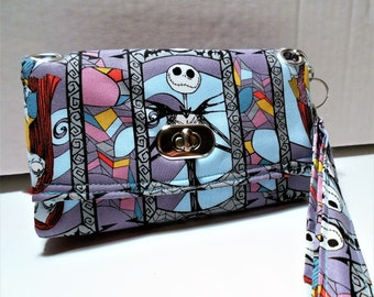 the nightmare before christmas wristlet wallet jack skellington and sally wallet nightmare before christmas gifts wristlet wallet