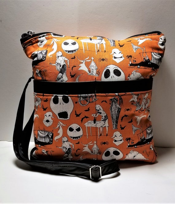 27a32e0b86 Nightmare Before Christmas Crossbody Messenger purse with faux