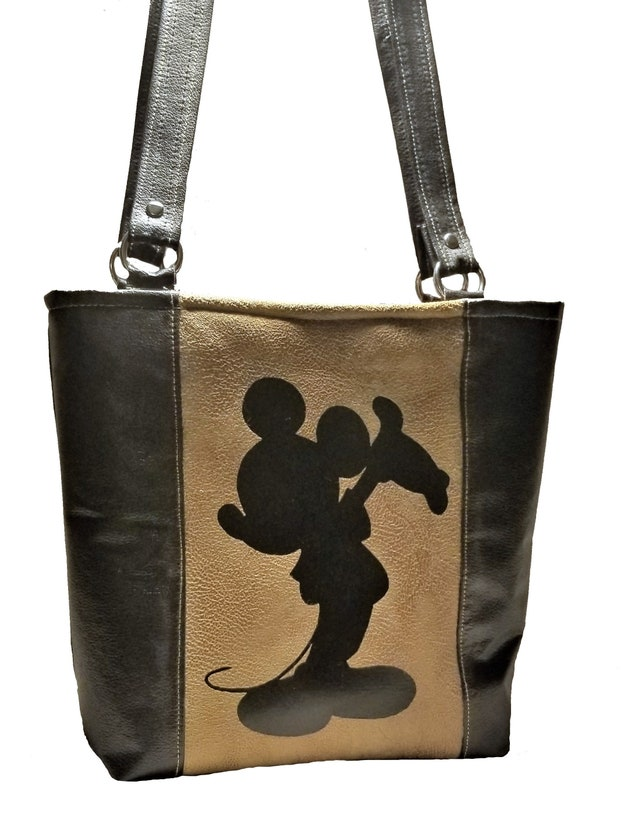 Faux Leder Mickey Mouse Silhouette Tote Stil Handtasche   Etsy