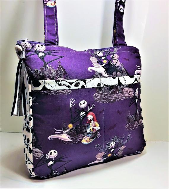Nightmare Before Christmas Purses Handbags.Nightmare Before Christmas Handbag Tote Shoulder Bag Jack Skellington Purse Jack And Sally Tote Bag Nbc Purse Disney Tote