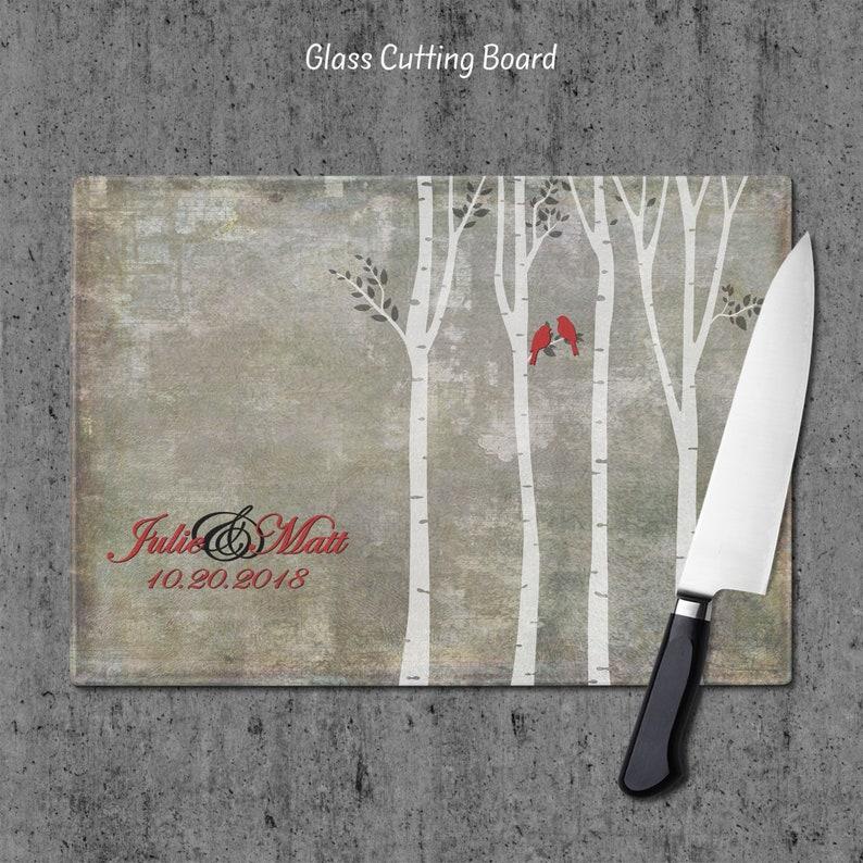 Anniversary Gift GC27 Wedding Gift Housewarming Gift Kitchen Decor Personalized Cutting Board Cutting board Glass Cutting Board