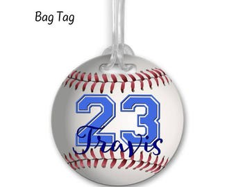 Baseball Bag Tag, Team Gift, Bag Tag, Sports Team Gift, Luggage Tag, Personalized Bag Tag, Customized Bag Tag, Baseball Gift, Baseball Coach