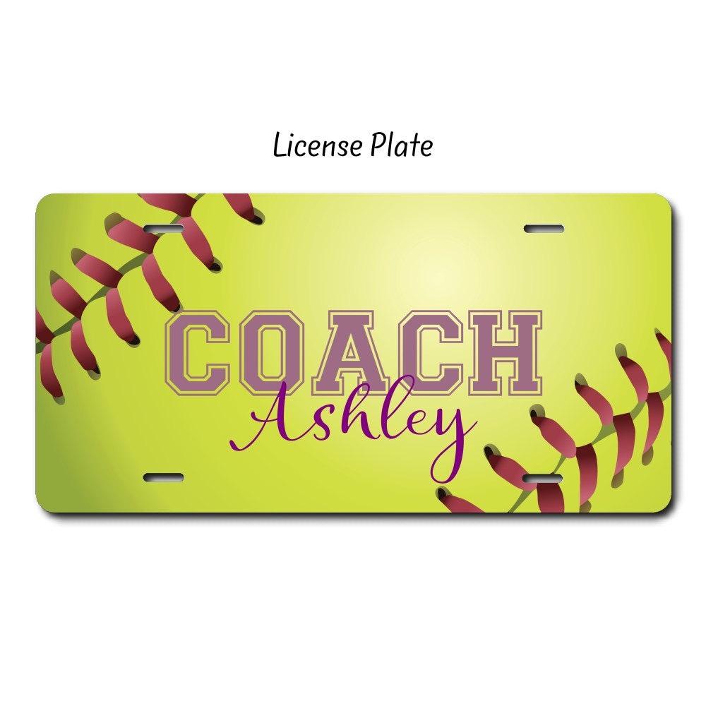 Softball Coach Softball-Geschenk Softball-Kfz-Kennzeichen | Etsy