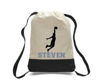 Basketball Gift, Basketball Bag, Basketball Drawstring Bag, Team Gift, Sports Bag, Personalized Bag, Custom Bag, Drawstring Bag