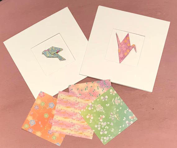 Two Personalised Origami Greetings Cards Fiver Friday Offer