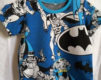 T-shirt Batman blue size 80-86-92-98 super hero