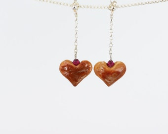Mother's Day Gift, Hand-carved Love Earrings, Avocado Earrings, Gift for Her, Natural Earrings, Hearts