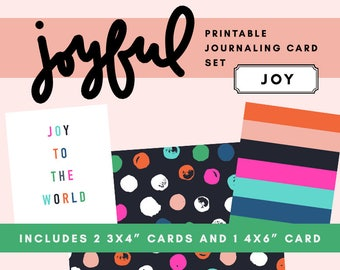 Joyful Printable Journaling Card Set - Joy