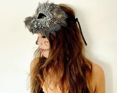 Night owl feather masquerade mask, halloween masquerade ball, masquerade ball mask, venetian mask, masquerade party, halloween mask