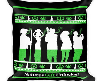 Transform any room with this cool weed pillow-Stoner Room Decor
