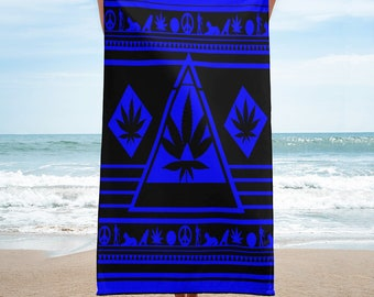 Blue Dream Weed Beach Towel-NGU Weed Shirts