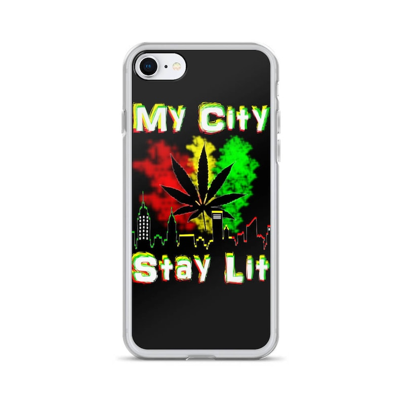 My City Stay Lit Stoner iPhone Case-Weed Cell Phone Case