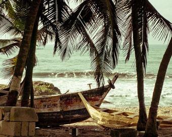 Cape Coast, Ghana 20x30 Photograph with Wood Edge
