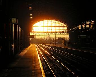 The Hague Train Station 11x14 Photograph on Canvas