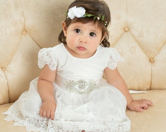 e56b2432a Baptism Dress, Christening Dress, Baby Lace Dress ,Baptism Gown, Christening  Gown, Communion Dress, Blessing Dress, off white Dress
