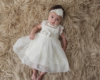 aa1d042eea Ivory Baptism Dress