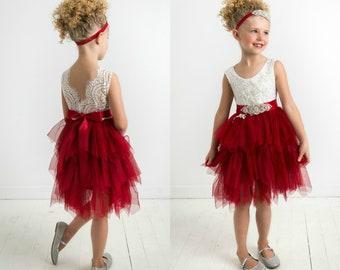 toddler christmas dress etsy - Red Christmas Dress