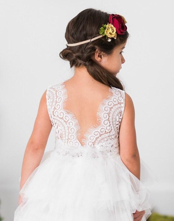 White flower girl dress rustic lace flower girl dressbaby etsy image 0 mightylinksfo