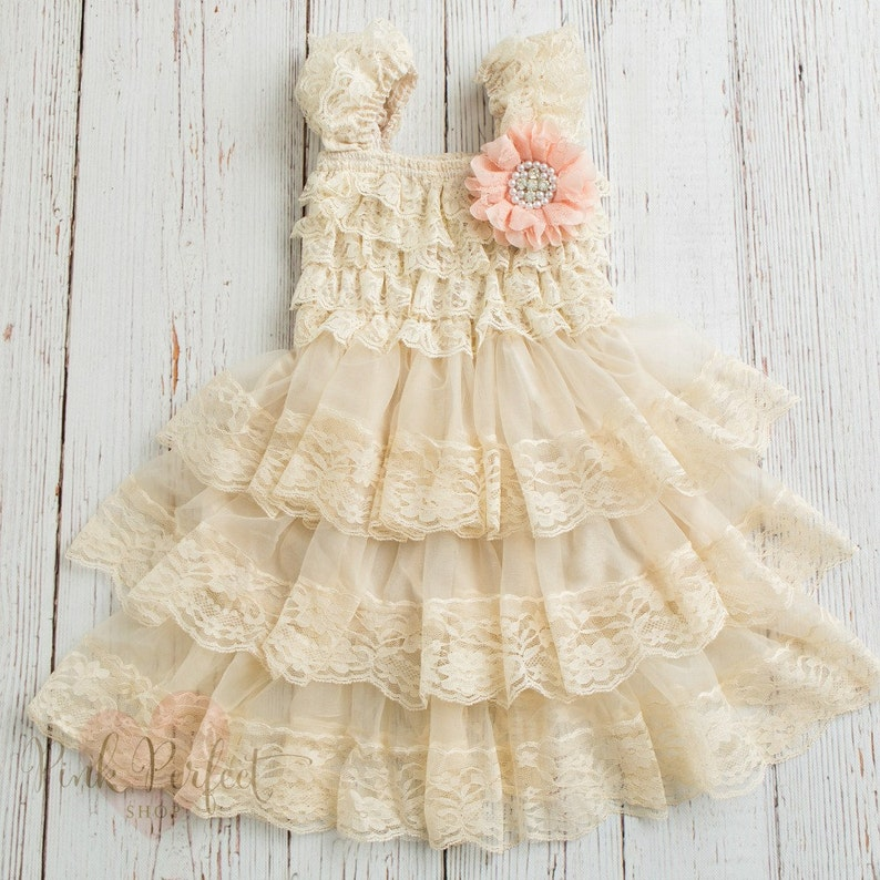 cd534ef6fbe1 Flower girl dress rustic flower girl dresscountry flower
