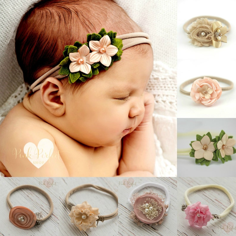 Baby headbands newborn headband Nylon headbandBaby girl  d5b17c83aaf