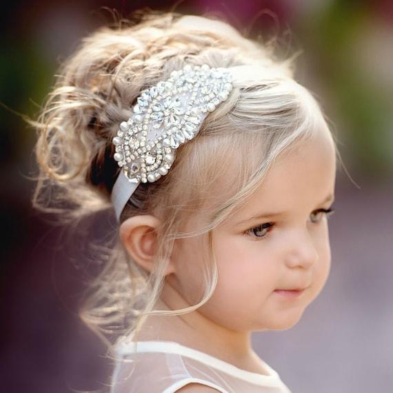 dressy headband formal headband halo Rhinestone headband baby headband, flower girl headband wedding headband orange headband