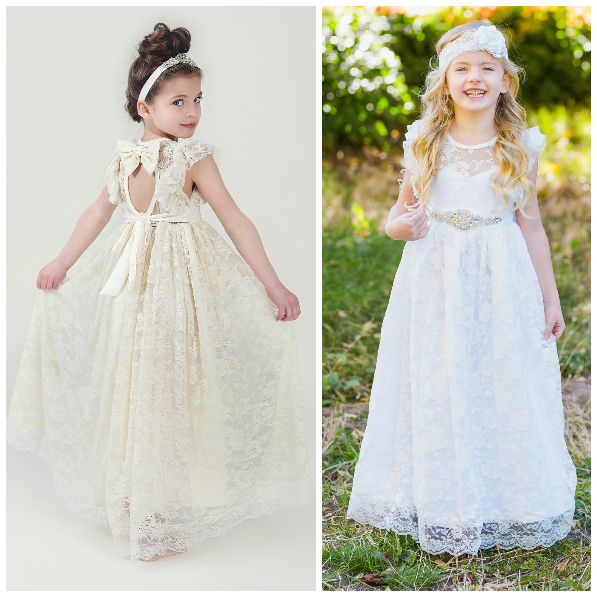 098392f8d9dc Flower Girl Dress lace girl dress rustic flower girl dress