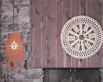 "1970s Enchanting ""Circular Sensation"" MACRAMÉ Wall Art Hanging - Instant PDF Digital Download PATTERN"