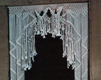 "1970s ""Inner Sanctum"" MACRAMÉ Door Curtain - Instant PDF Digital Download PATTERN With Knot Guide"