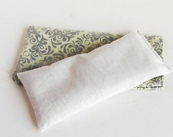 Gray Lavender Aromatherapy Eye Pillow, Lavender Eye Pillow, Yoga Eye Pillow, Lavender Herbal Pillow, Organic Eye Pillow, Yoga Breathe Pillow